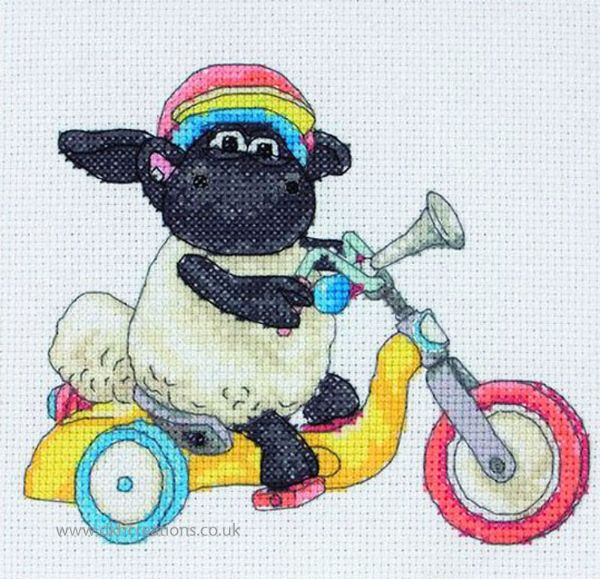 Timmy Time Bike Ride Cross Stitch Kit